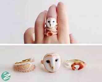 حلقه و انگشترهایی با اشکال حیوانات