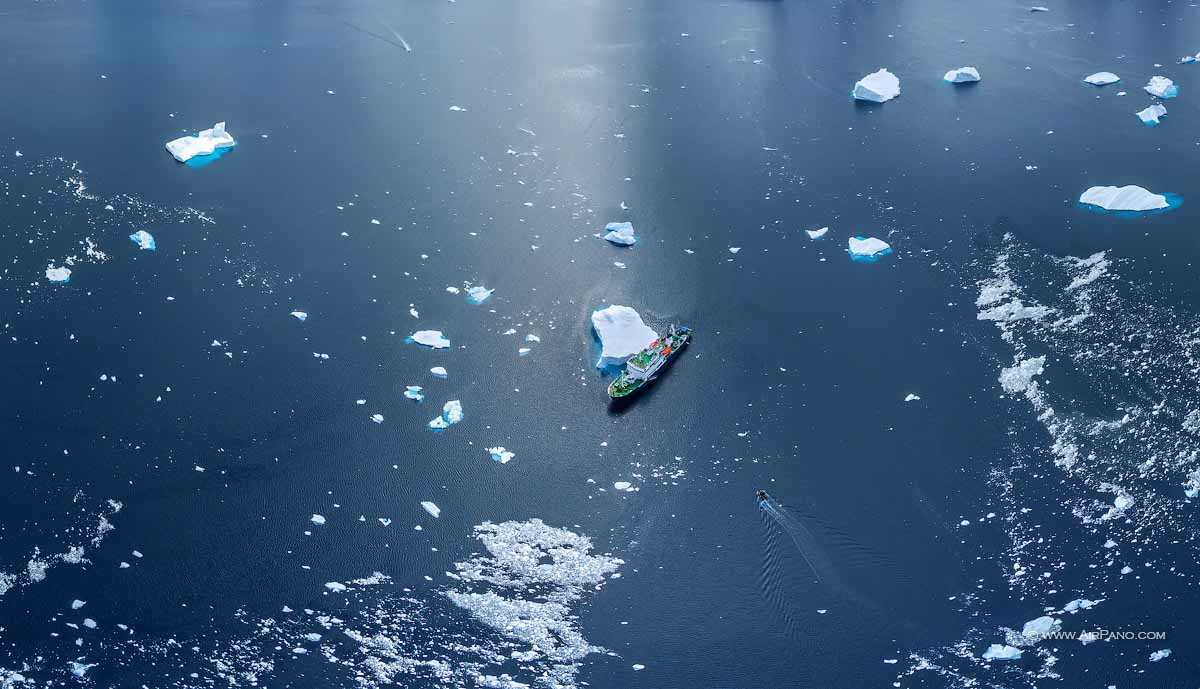 عکس هوایی از قطب شمال