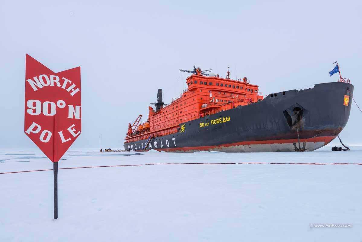 عکس هایی از ورود کشتی ها به قطب شمال