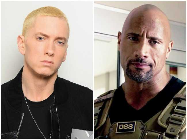 Eminem and Dwayne Johnson