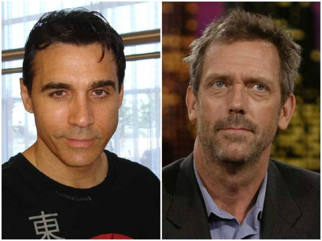 Adrian Paul and Hugh Laurie