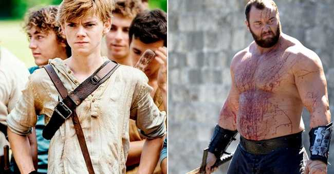 Thomas Brodie-Sangster and Hafthor Julius Bjornsson