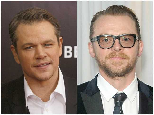 Matt Damon and Simon Pegg