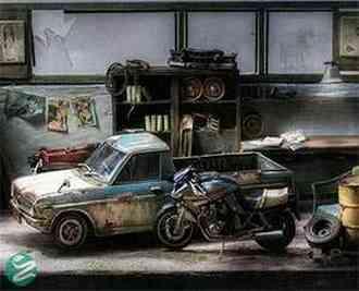 عکسهایی از یک گاراژ مینیاتوری