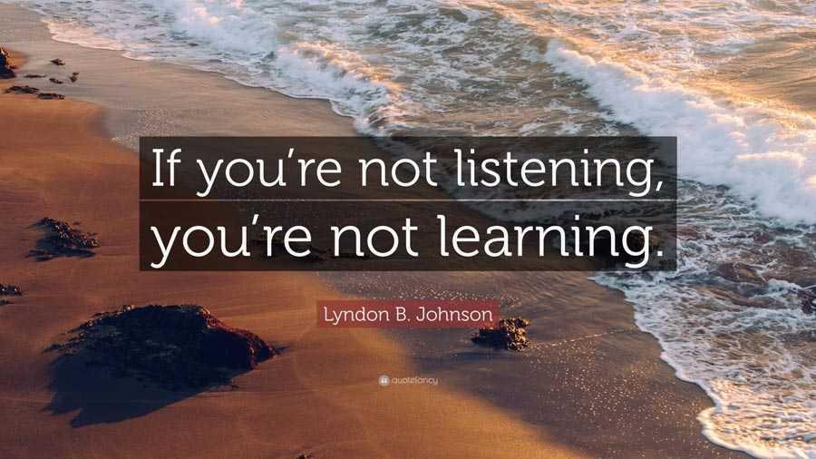 اگر گوش ندهید، یاد نمیگیرید