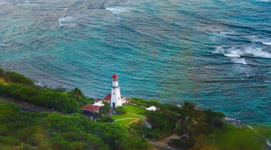 Diamond Head Lighthouse, Hawaii, USA