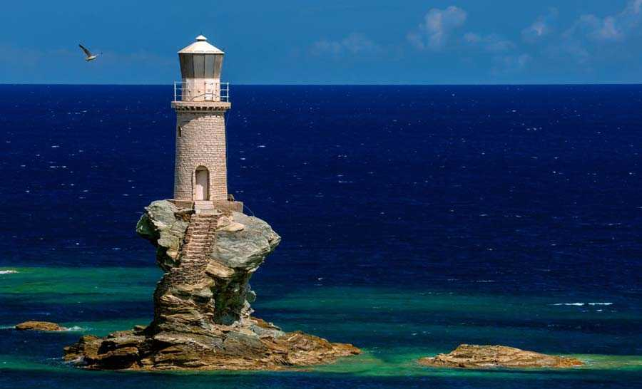 Tourlitis Lighthouse, Greece