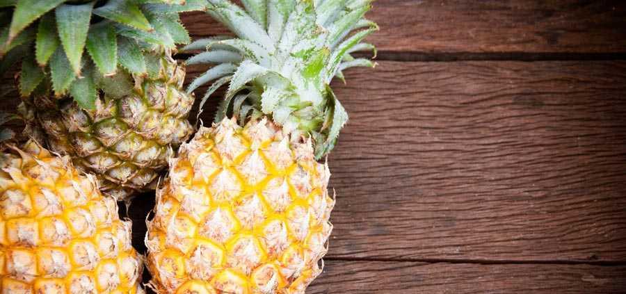 آناناس و از بین بردن چروک پوست