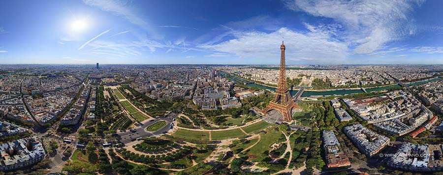 عکس هوایی برج ایفل