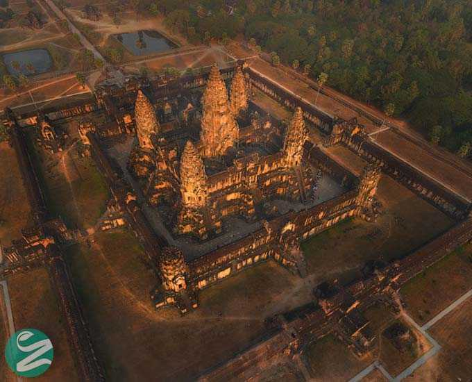10 عکس هوایی و زیبا از معبد انگکور وات