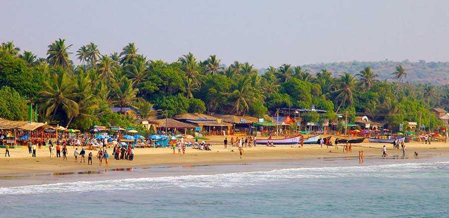 ساحل آرامبول در سواحل گوآ، هند