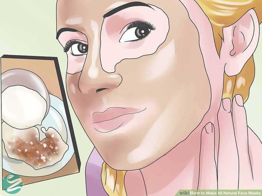 ماسک صورت شکر قهوه ای و شیر
