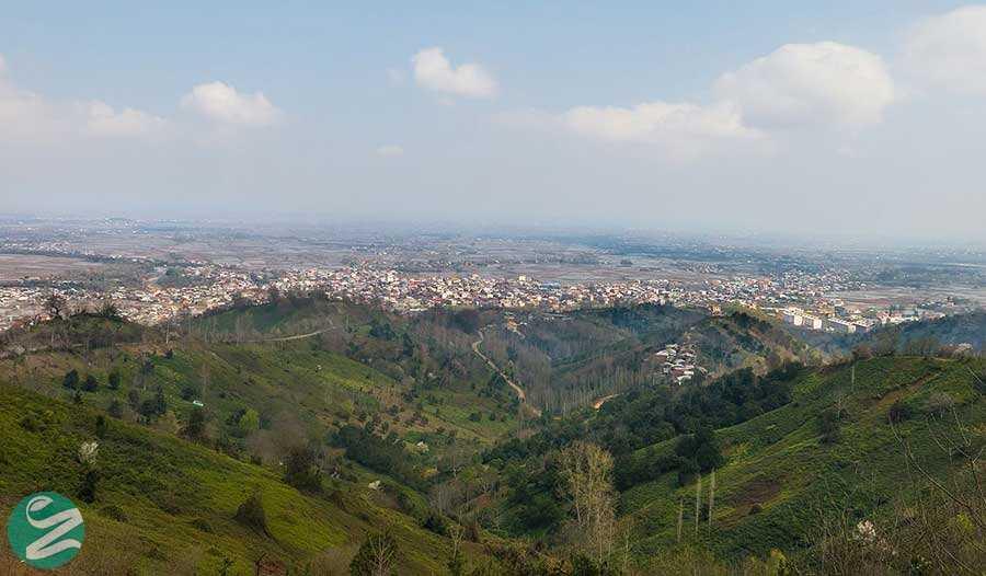 شهر زیبای املش از نمای دور