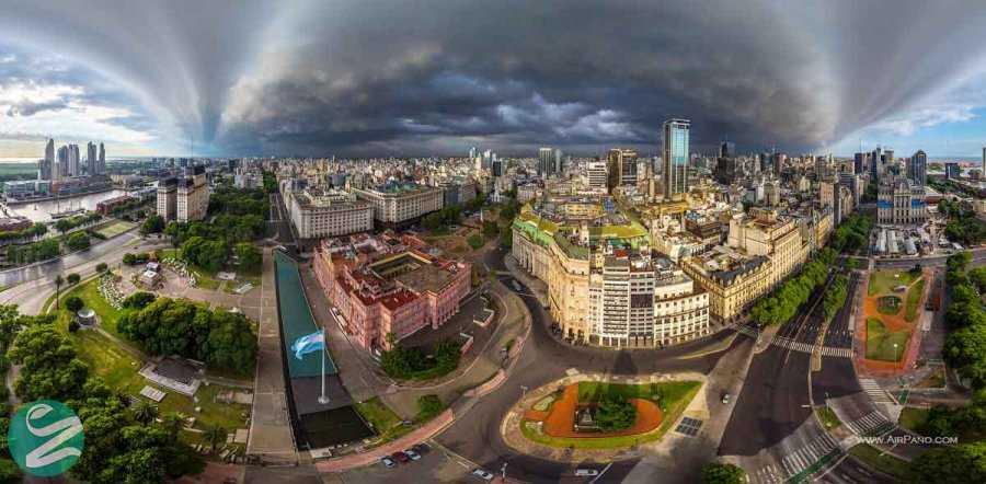 عکس هوایی زیبا از بوینس آیرس
