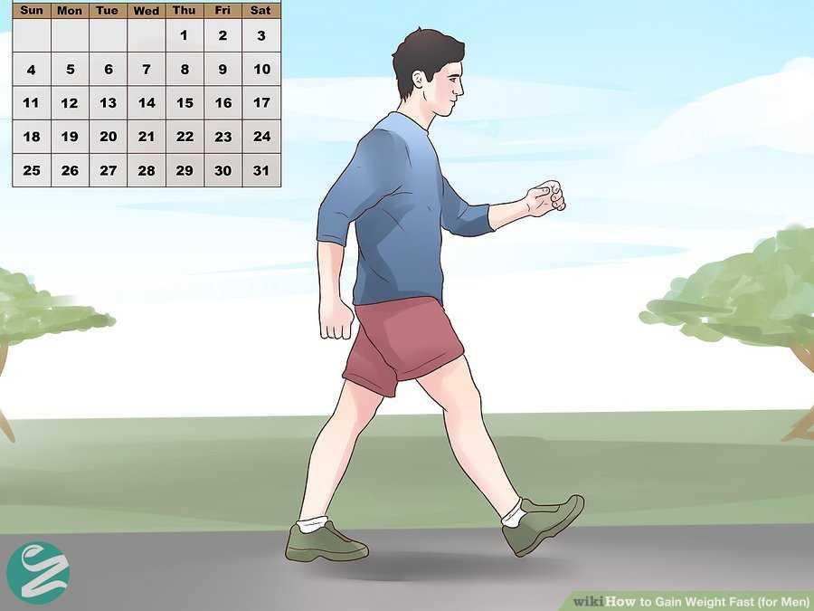 افزایش وزن طبیعی با پیاده روی