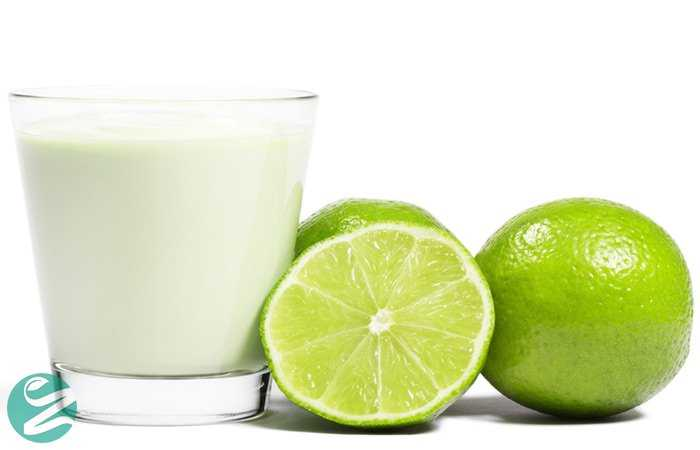 ماسک لیمو، شیر و زردچوبه