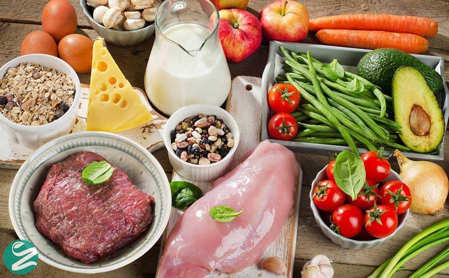 نشانههای طبع سرد و گرم و فهرست مواد غذایی به تفکیک طبع