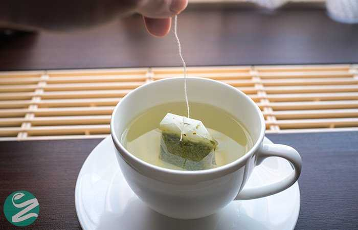 از بین بردن چربی صورت با چای سبز