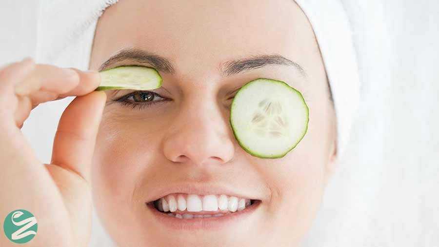 درمان پف چشم با خیار