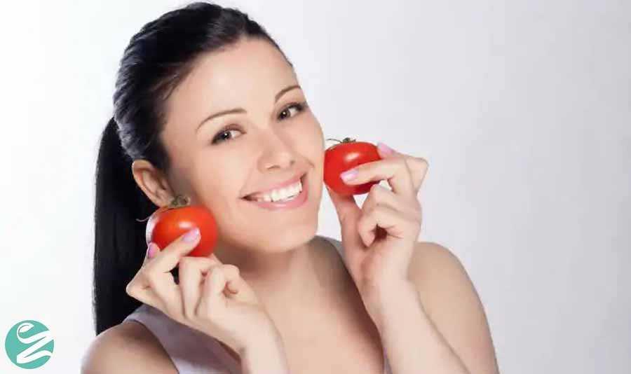 روشن کردن موهای صورت با گوجه فرنگی
