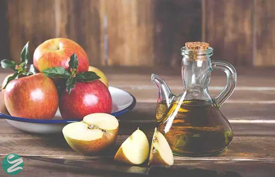 اسکراب جوش شیرین و سرکه سیب