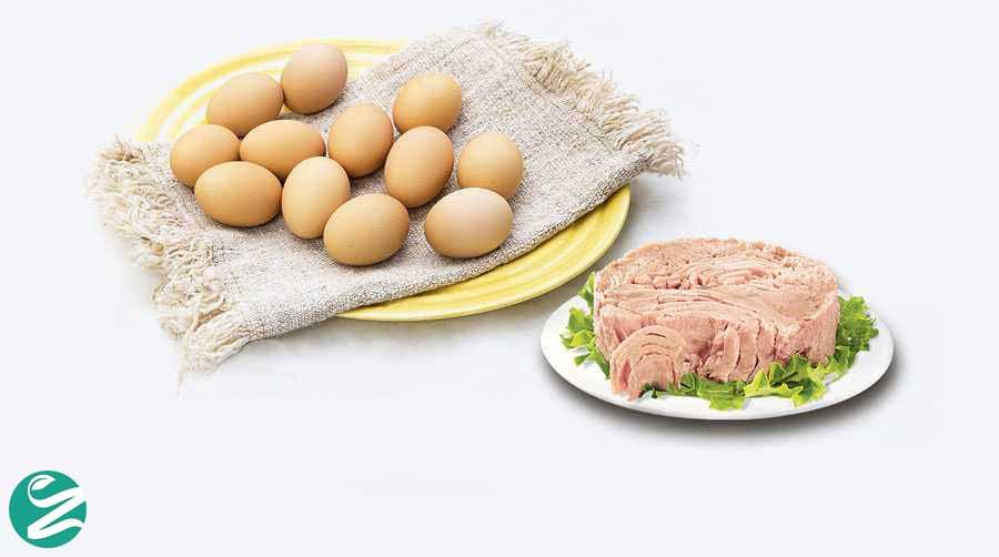 آیا خوردن تن ماهی با تخم مرغ ضرر دارد؟