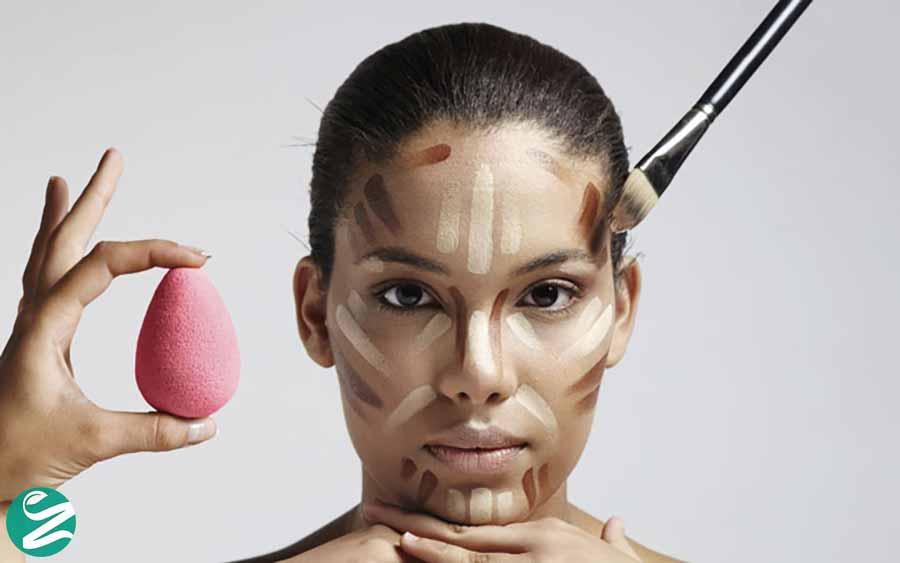 آرایش برای لاغر نشون دادن صورت