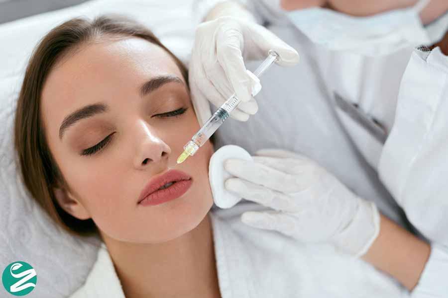 درمان افتادگی پوست با بوتاکس