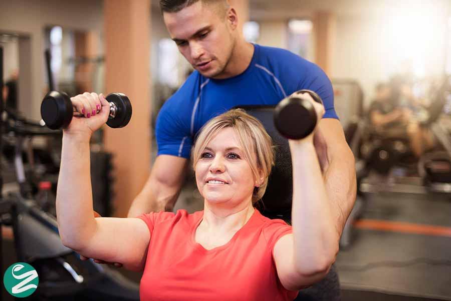 درمان افتادگی پوست با ورزش کردن