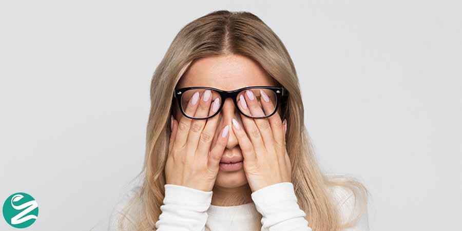 خشکی چشم و سردرد
