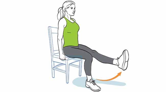 کشش پا به صورت نشسته (Seated Leg Extensions)