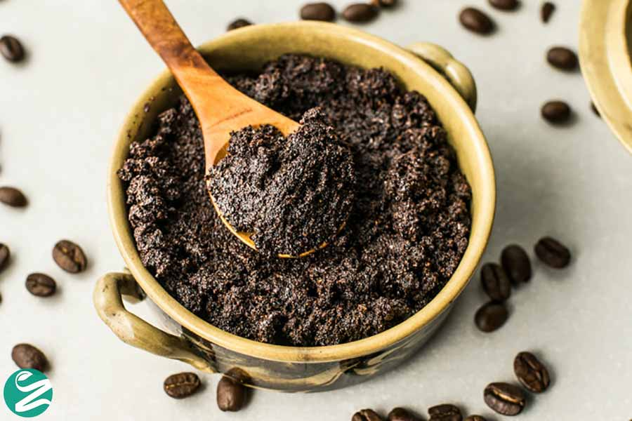 اسکراب صورت قهوه، شکر قهوهای و روغن زیتون
