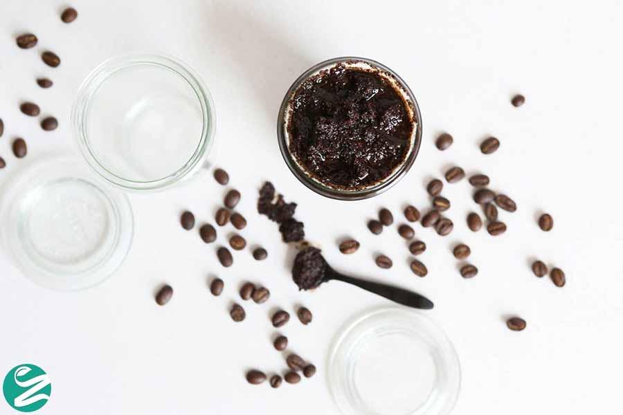 اسکراب قهوه و نمک دریا برای صورت
