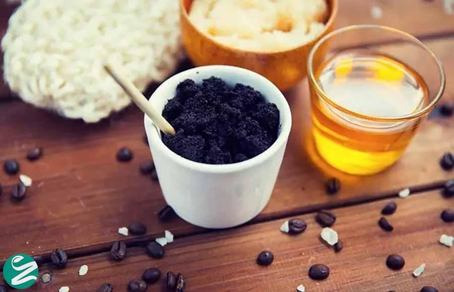 اسکراب قهوه و عسل