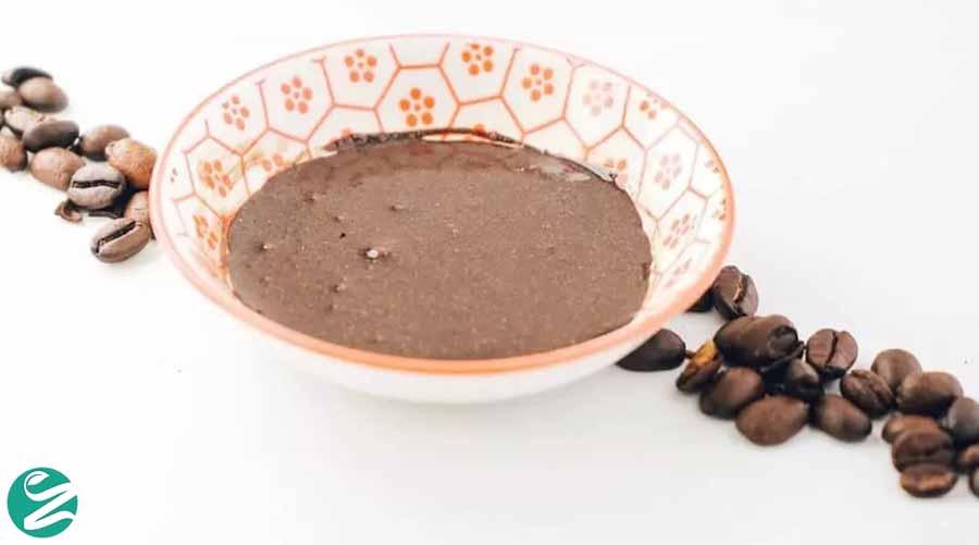 اسکراب صورت قهوه و شیرهی نارگیل