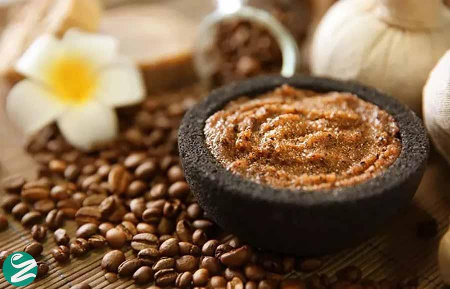 اسکراب قهوه و شکر قهوهای