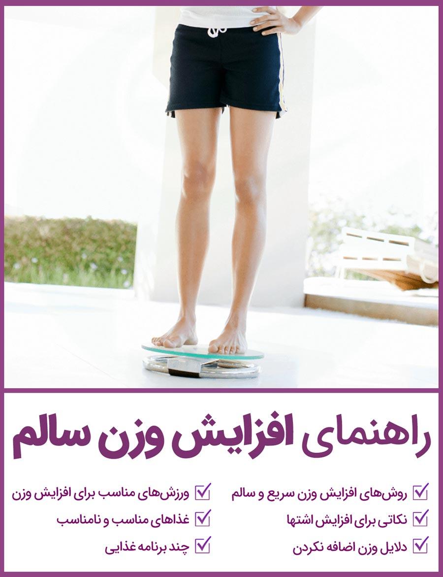 کتاب راهنمای افزایش وزن