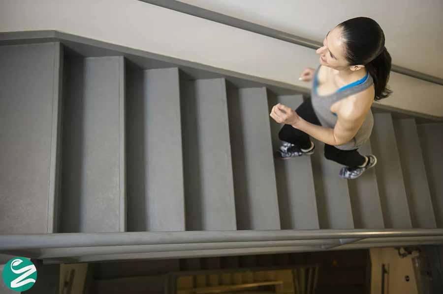 حرکت بالا و پایین رفتن از پله