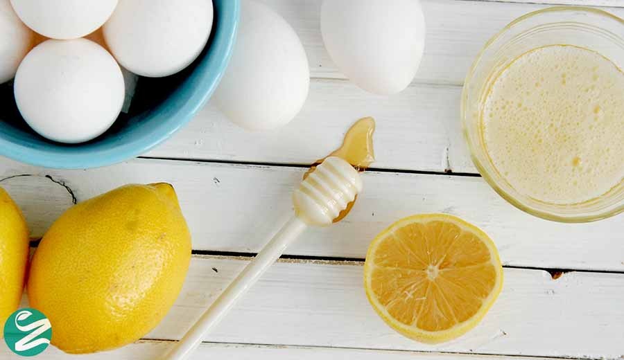 ماسک بابونه، عسل، سفیده تخممرغ و لیمو