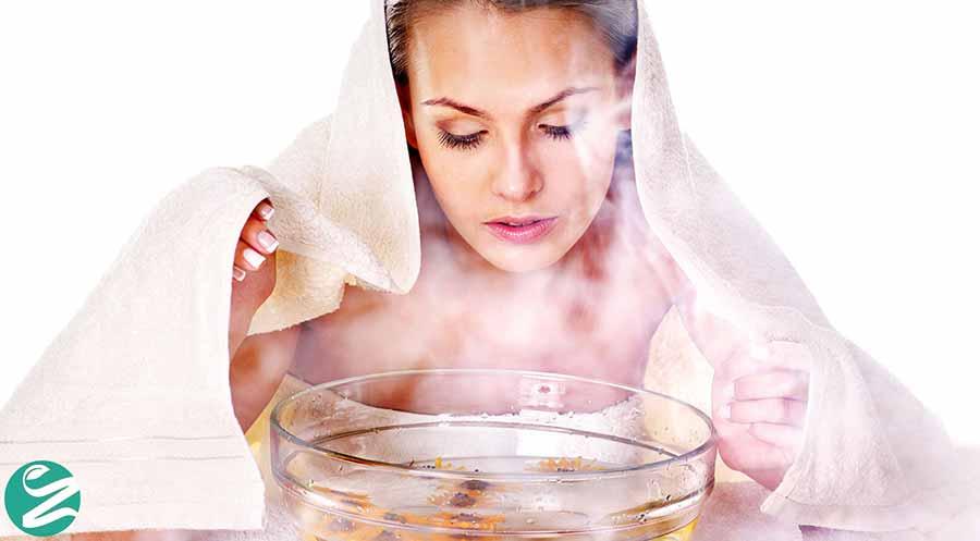 استفاده از بخور آب گرم