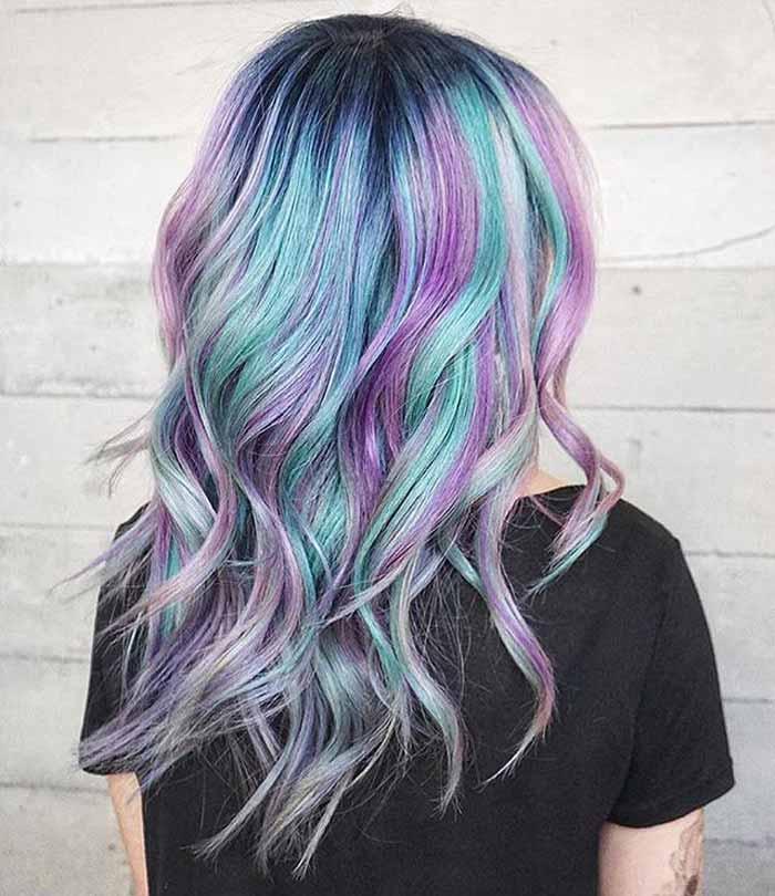 رنگ موی بالیاژ پاستیلی