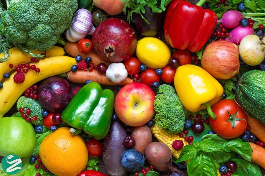کاهش وزن با مصرف سبزیجات و میوهها