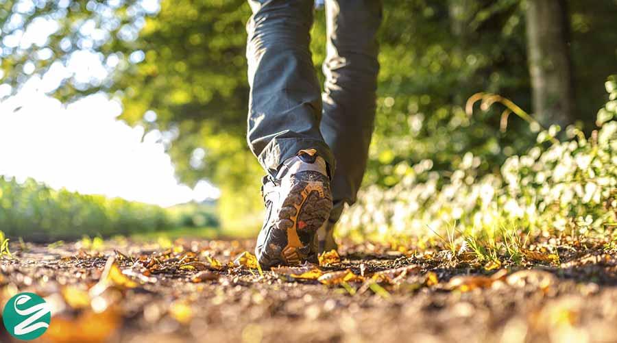 پیاده روی افراد تنبل