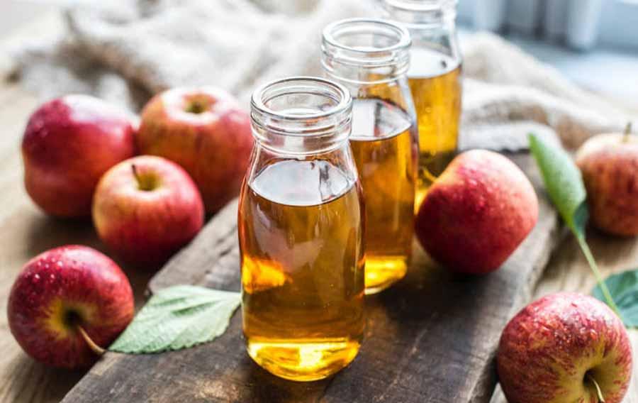 درمان چربی موی سر با سرکه سیب