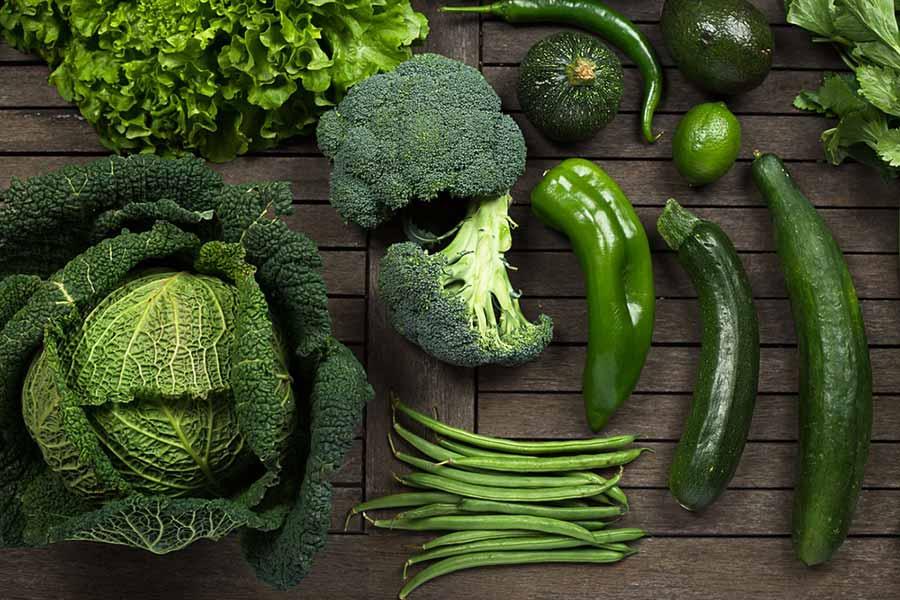 لیست سبزیجات برگ سبز